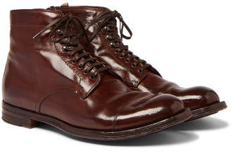 Officine Creative Anatomia Burnished-Leather Derby Boots