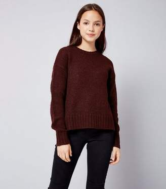 New Look Teens Burgundy Crew Neck Knit Jumper