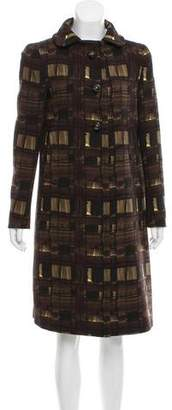 Prada Wool Patterned Coat