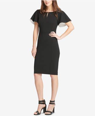 DKNY Flutter-Sleeve Sheath Dress