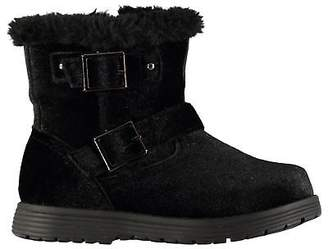 Miso Kids Girls Faith Biker Infant Boots Rugged Buckle Fastening Zip Faux Fur
