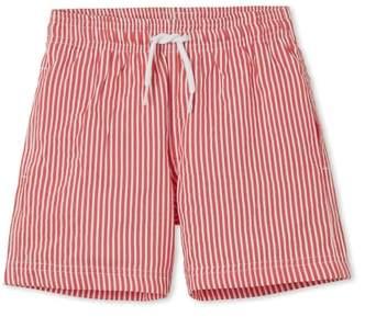 Red Stripe Swim Trunks
