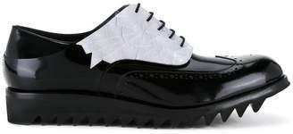 Diego Vanassibara contrast brogues shoes