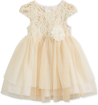 Bonnie Baby Baby Girls' Lace & Tulle Dress $60 thestylecure.com