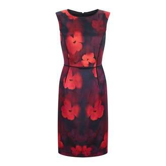 Red Poppy Silk Blend Dress