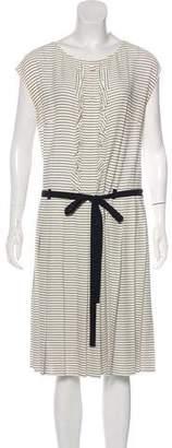 Prada Striped Sleeveless Midi Dress