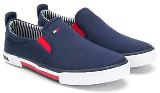 Tommy Hilfiger Junior embroidered logo slip-on sneakers