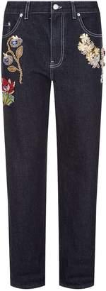 Alexander McQueen Crystal Embellished Jeans