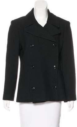 Womens Ruffled Stretch-Twill One-Button Blazer Barneys New York Clearance Store Online LDGLfid9