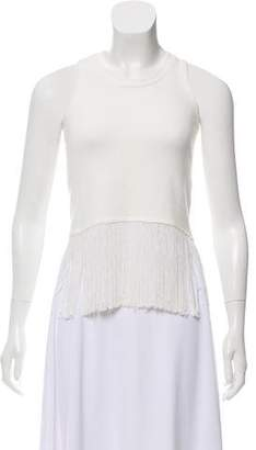 Timo Weiland Sleeveless Fringe Top