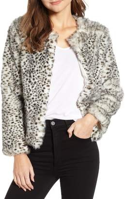 Cupcakes And Cashmere Faux Leopard Fur Jacket