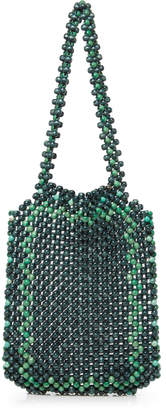 Rosantica Gloria Two-Tone Beaded Tote Bag