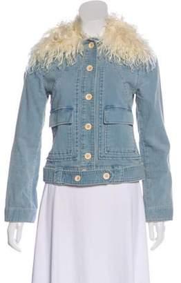 Chloé Fur-Trimmed Corduroy Jacket Chloé Fur-Trimmed Corduroy Jacket