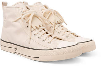 Visvim Skagway Fringed Canvas High-Top Sneakers