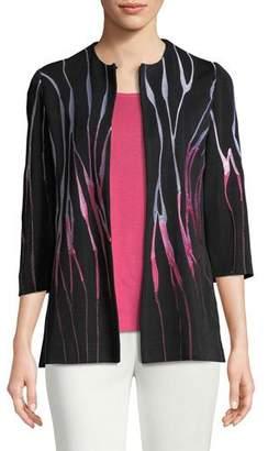 Misook Embroidered 3/4-Sleeve Jacket