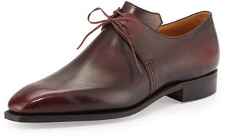 Arca Corthay Calf Leather Derby Shoe, Dark Burgundy
