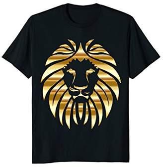 Metallic Gold King Lion Jungle T-Shirt