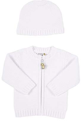 Barneys New York Infants' Thermal-Stitched Cardigan & Hat