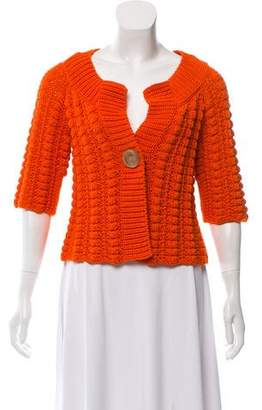 Agnona Chunky Short Sleeve Cardigan