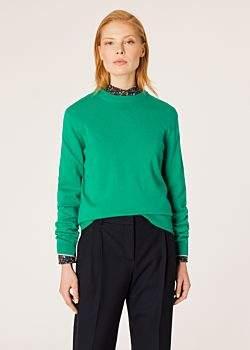 Women's Green Cashmere Sweater