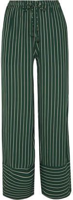 Faithfull The Brand Havana Striped Crepe Pants - Emerald