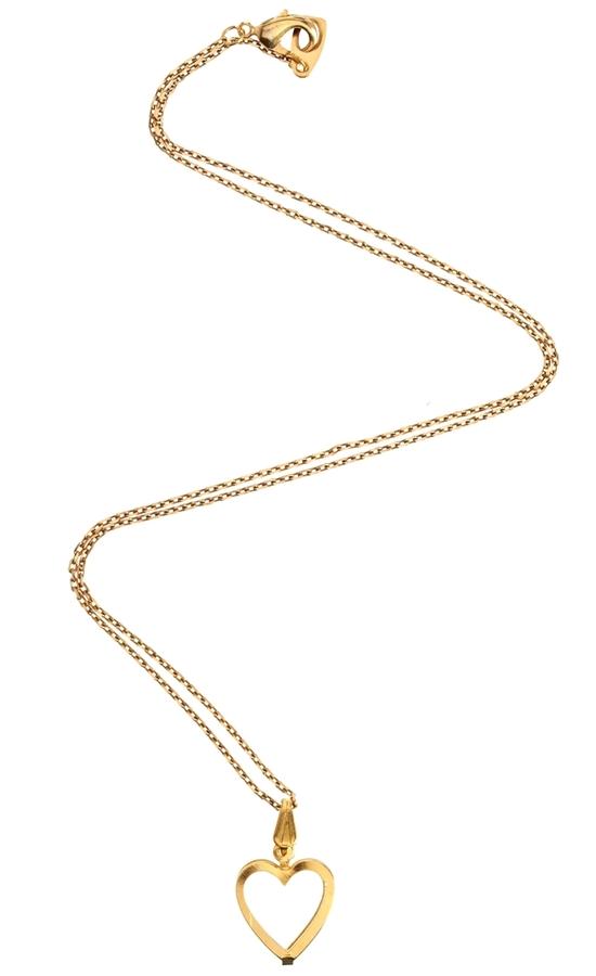 Gogo Philip Brass Heart Necklace