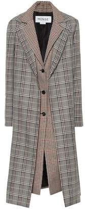 Monse Checked wool-blend coat