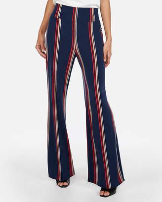Express High Waisted Striped Wide Leg Pant