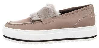 Brunello Cucinelli Leather Slip-On Sneakers