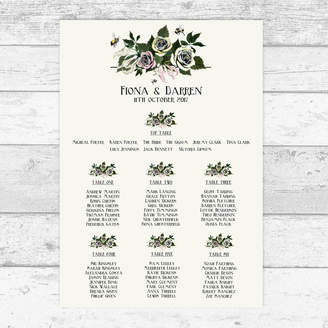 Bumble Bee Bloom Cocoon Bouquet Personalised Table Plan