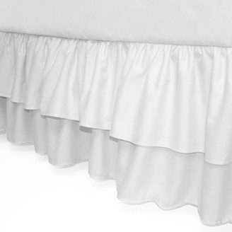 American Baby Company Double Layer Ruffled Crib Skirt, White