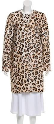 Yves Salomon Meteo x Leopard Patterned Fur Coat w/ Tags Beige Meteo x Leopard Patterned Fur Coat w/ Tags