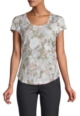 Rebecca Taylor Penelope Floral-Print Linen Top