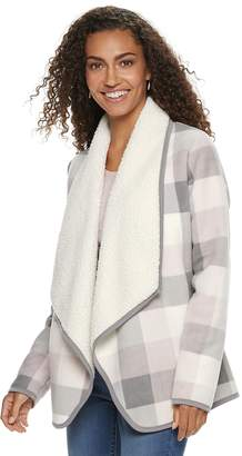 Sonoma Goods For Life Women's SONOMA Goods for Life Supersoft Fleece Sherpa Cardigan