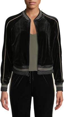 Mother The Runner Striped Letterman Bomber Jacket