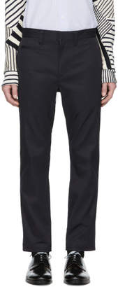 Junya Watanabe Navy Stretch Twill Trousers