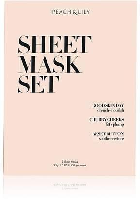 Peach & Lily Women's Sheet Mask Set