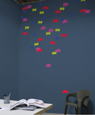 Blik Re-Stik Invader Wall Decal