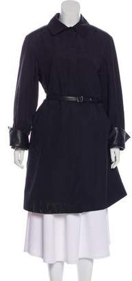 Loro Piana Leather-Trimmed Knee-Length Coat
