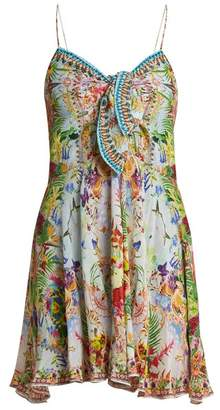 Camilla Miranda's Diary Silk Dress - Womens - Green Multi