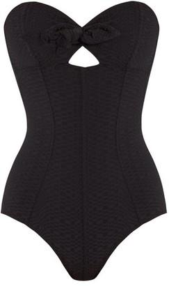 Lisa Marie Fernandez Poppy Bandeau Swimsuit - Womens - Black