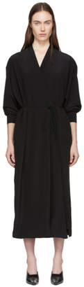 Stella McCartney Black Fold Over Silk Dress