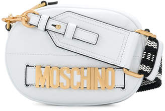 Moschino logo embellished shoulder bag