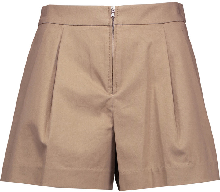 3.1 Phillip Lim3.1 Phillip Lim Pleated cotton-blend twill shorts