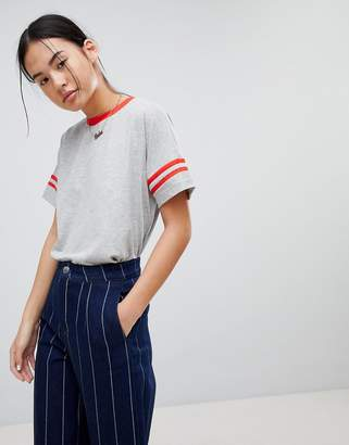 Noisy May Striped Arm T-Shirt