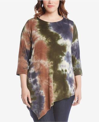 Karen Kane Plus Size Draped Crisscross-Back Top