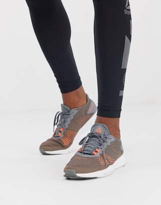 Reebok training flexagon sneakers in grey