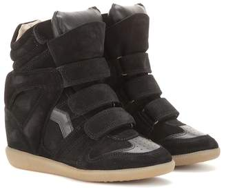 Etoile Isabel Marant Bekett leather and suede wedge sneakers