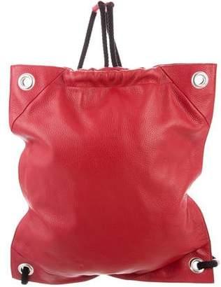 MM6 MAISON MARGIELA MM6 by Maison Martin Margiela Drawstring Leather Backpack