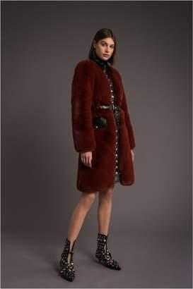 Sonia Rykiel Fitted Faux Fur Coat